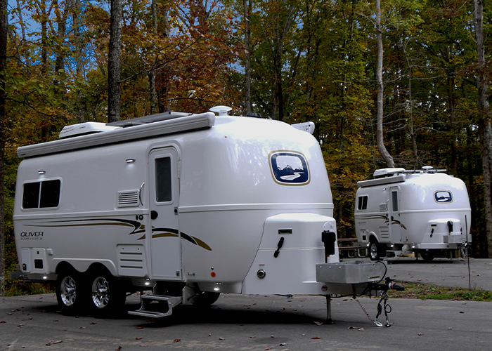 18 and 23 foot travel trailers